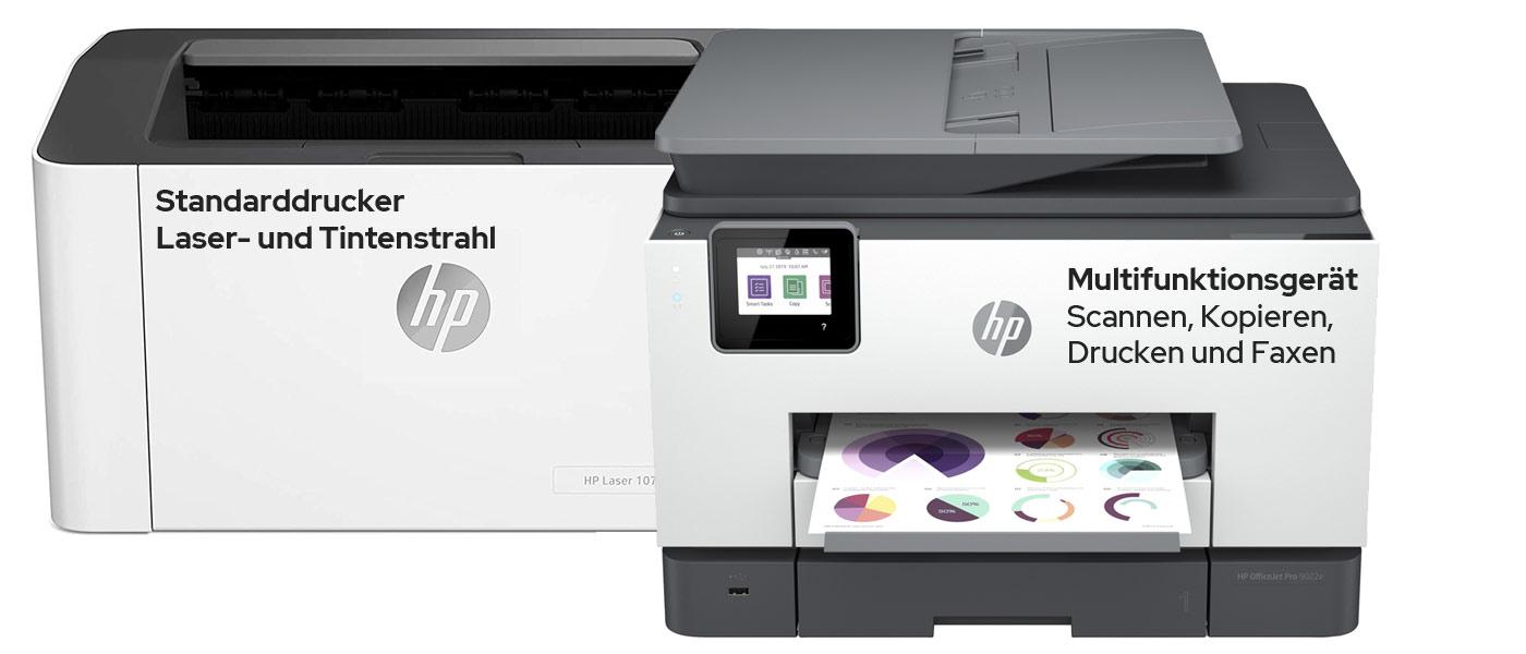 Multifunktionsdrucker vs einfacher Drucker